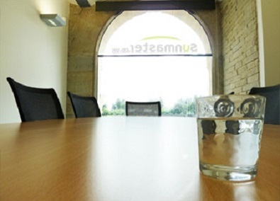 Sunmaster holidays boardroom with window