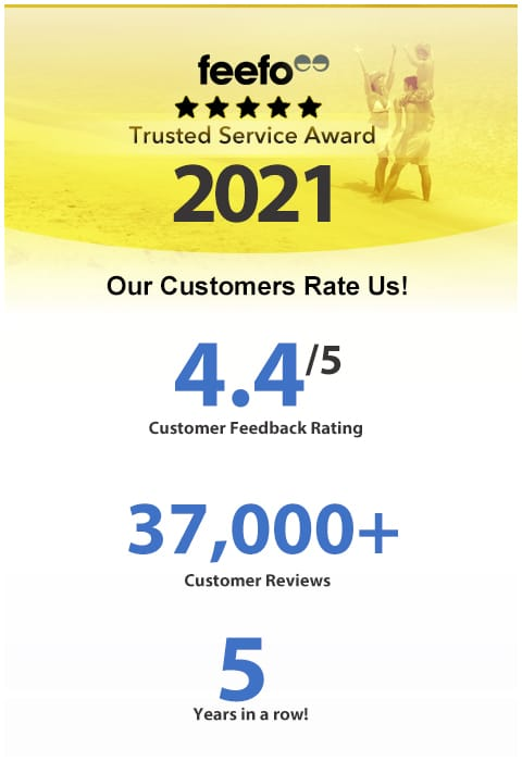 Feefo 2018 Trusted Service Awards