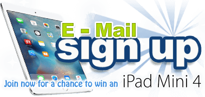 Sign up now for your chance to win an iPad mini